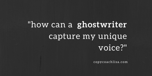 how can a  ghostwriter capture my unique voice